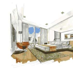 Creative Interior sketch